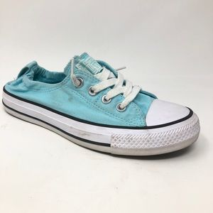 Converse Teal Aqua Pull Back Low Top Sneakers 7